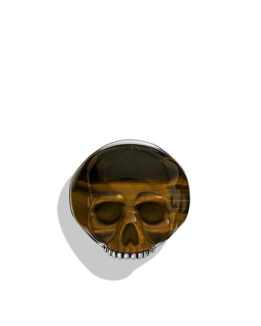 David Yurman | Metallic Carved Skull Ring With Tiger's Eye for Men | Lyst