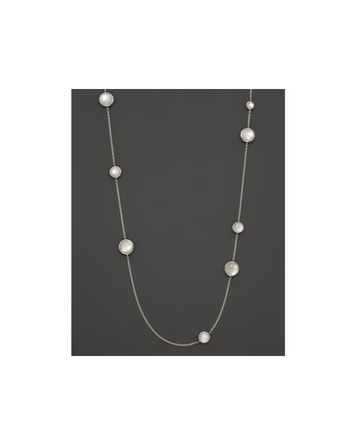 Ippolita | Multicolor Sterling Silver Wonderland Multi-round Stone Necklace In Mother-of-pearl Doublet, 40"