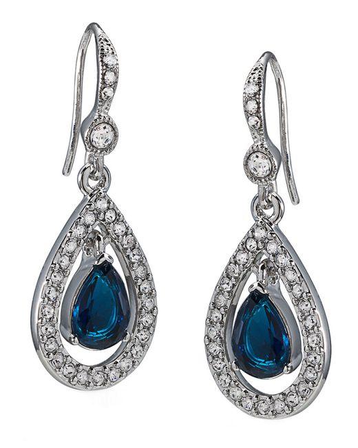 Carolee | Blue Pave Teardrop Drop Earrings | Lyst