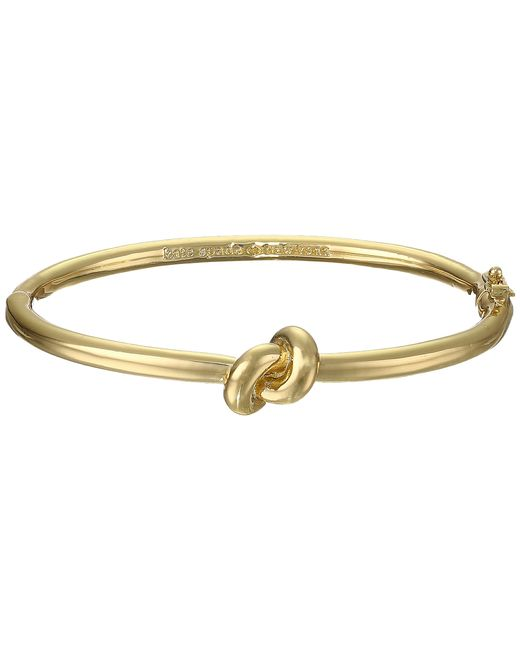 kate spade new york | Metallic Sailor's Knot Hinge Bangle | Lyst