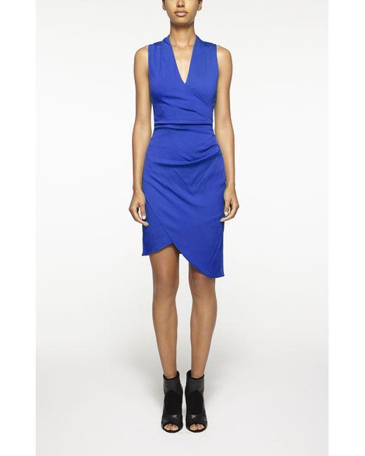 Nicole Miller | Blue Stefanie Crepe Dress | Lyst