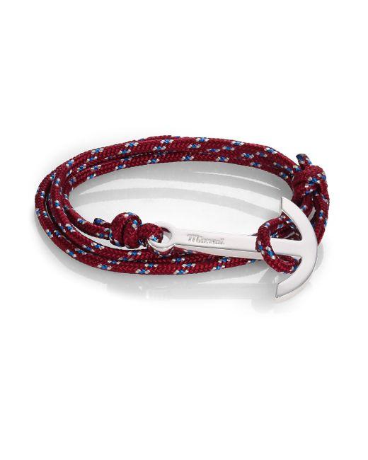 Miansai | Purple Modern Anchor Maritime Rope Wrap Bracelet | Lyst