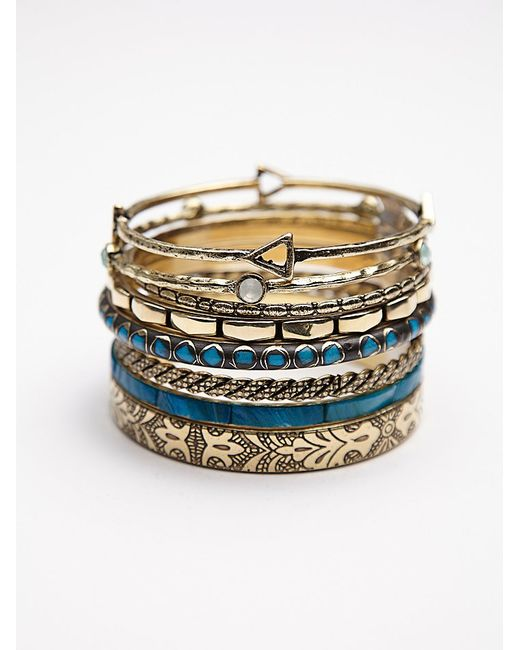Free People | Metallic Best Of The Best Hard Bangles | Lyst