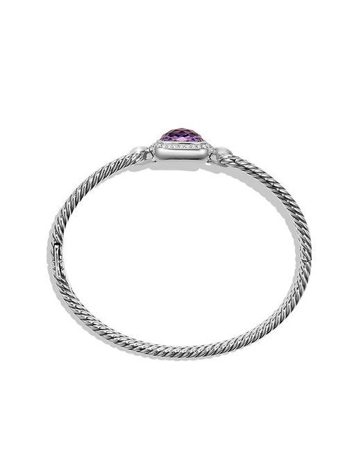 David Yurman   Metallic Bracelet With Amethyst And Diamonds   Lyst