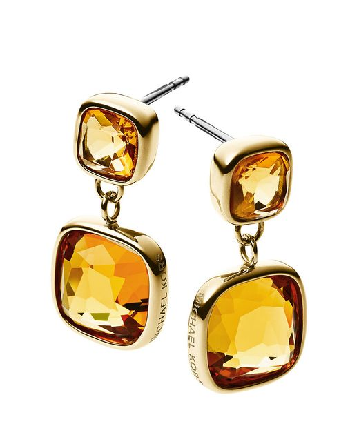 Michael Kors | Pink Brilliance Earrings | Lyst