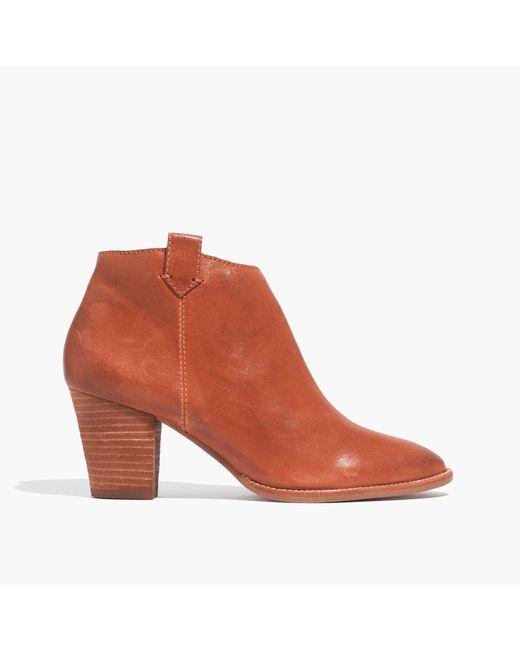 Madewell | Orange The Billie Boot | Lyst