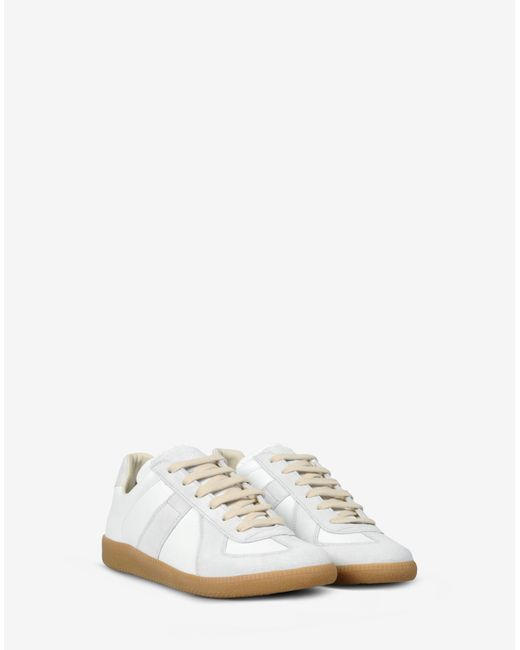 maison margiela 39 replica 39 sneakers in white lyst. Black Bedroom Furniture Sets. Home Design Ideas