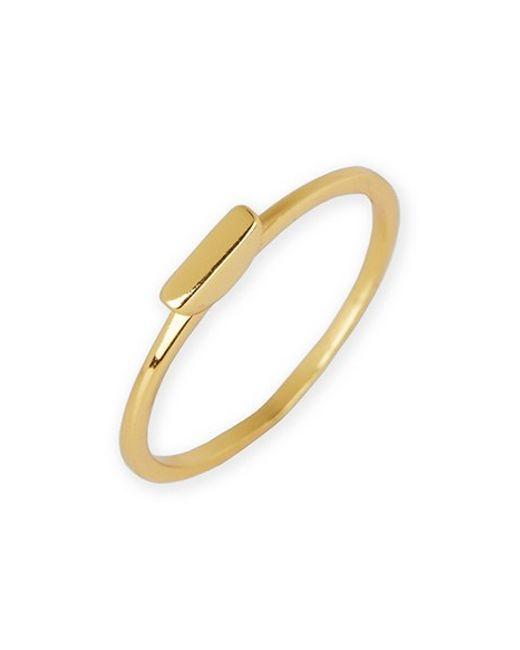 Argento Vivo | Metallic Flat Bar Ring | Lyst