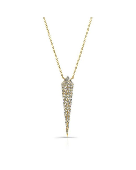 Anne Sisteron | 14kt Yellow Gold Diamond Spear Necklace | Lyst