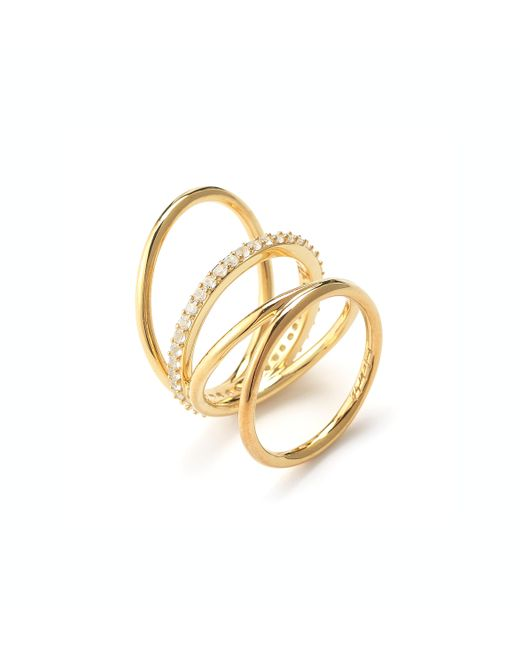 Elizabeth and James | Metallic Mondrian Ring | Lyst