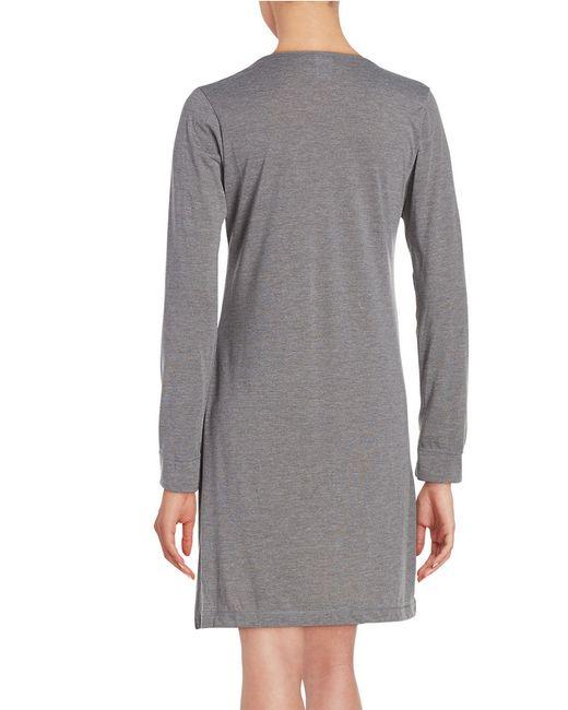 Calvin Klein | Gray V-neck Sleepshirt | Lyst