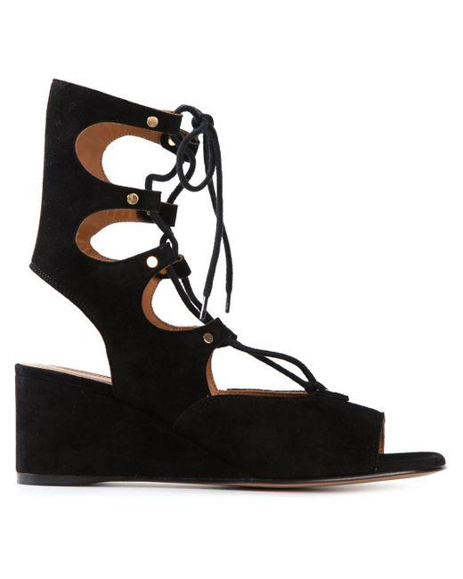 Chloé | Black Chloé 'foster' Wedge Sandals | Lyst