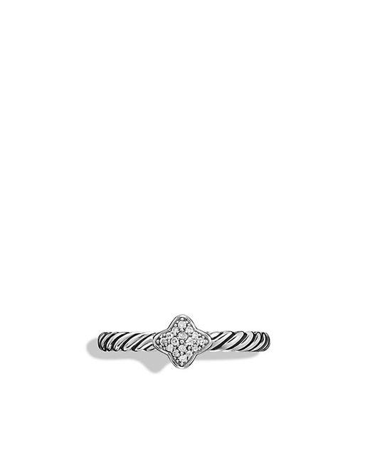 David Yurman | Metallic Quatrefoil Ring With Diamonds | Lyst