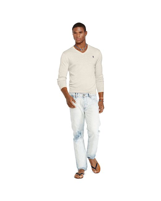 Polo Ralph Lauren   Natural Slim-fit Pima Cotton Sweater for Men   Lyst