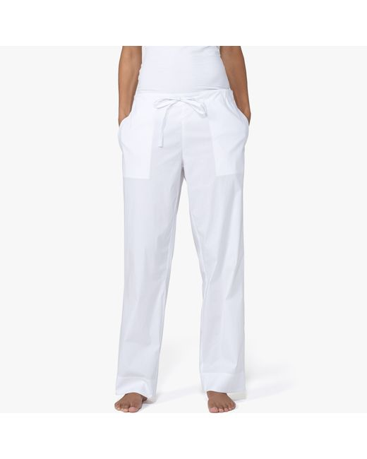 James Perse   White Laundered Cotton Pajama Pant   Lyst