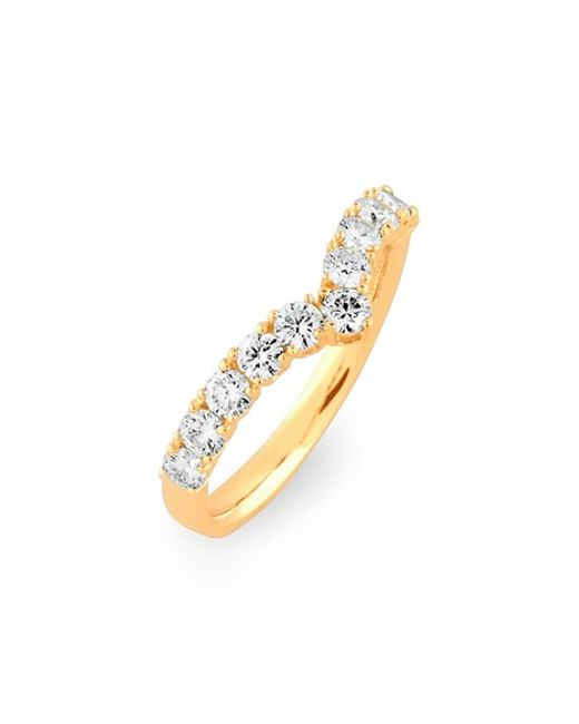 Bony Levy Chevron Diamond Band Ring In Gold YELLOW GOLD Lyst