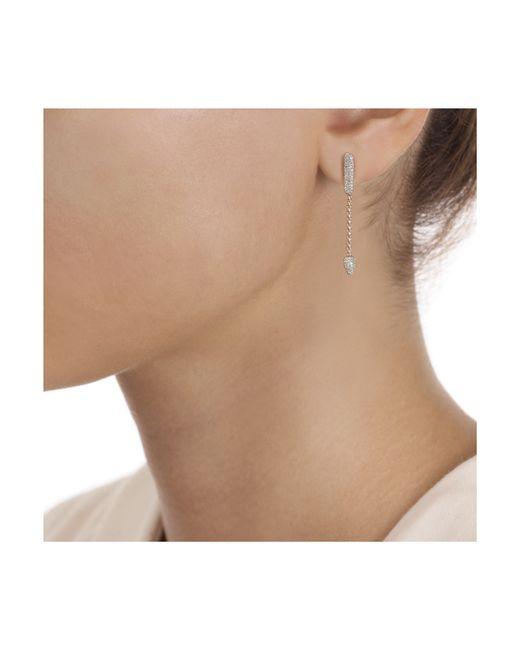 Monica Vinader | Pink Skinny Bud Short Full Diamond Earrings | Lyst