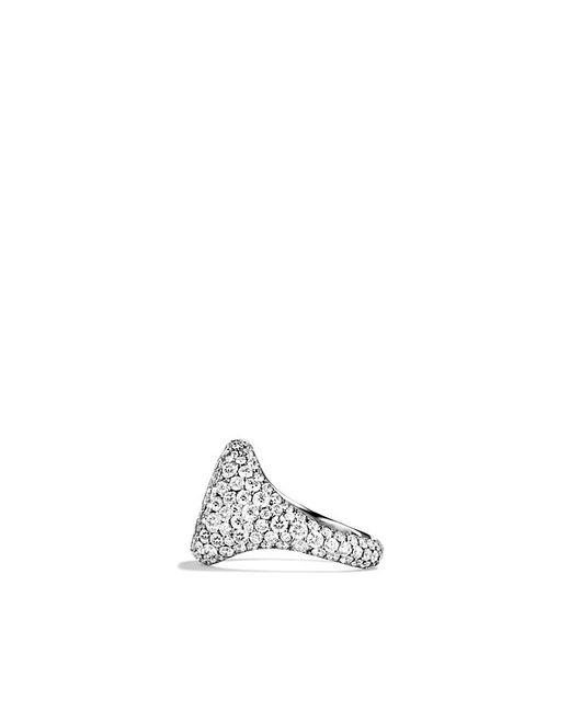 David Yurman | Pavé Pinky Ring With Diamonds In White Gold | Lyst