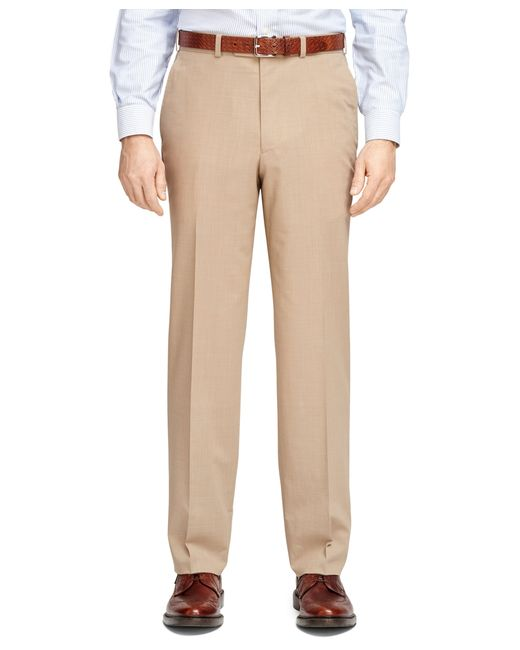 Brooks Brothers | Brown Madison Fit Brookscool® Dress Trousers for Men | Lyst