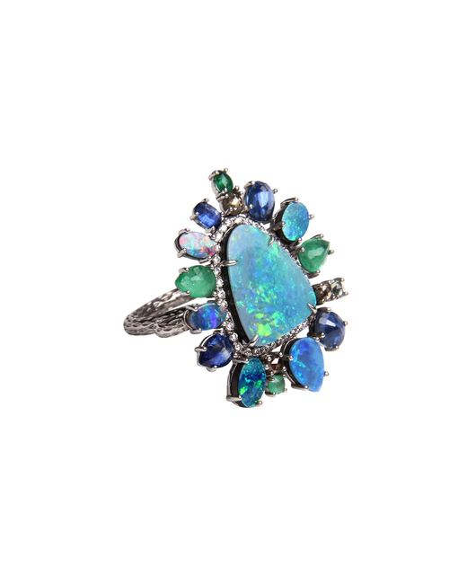 Nina Runsdorf | Blue Multi-stone Ring | Lyst