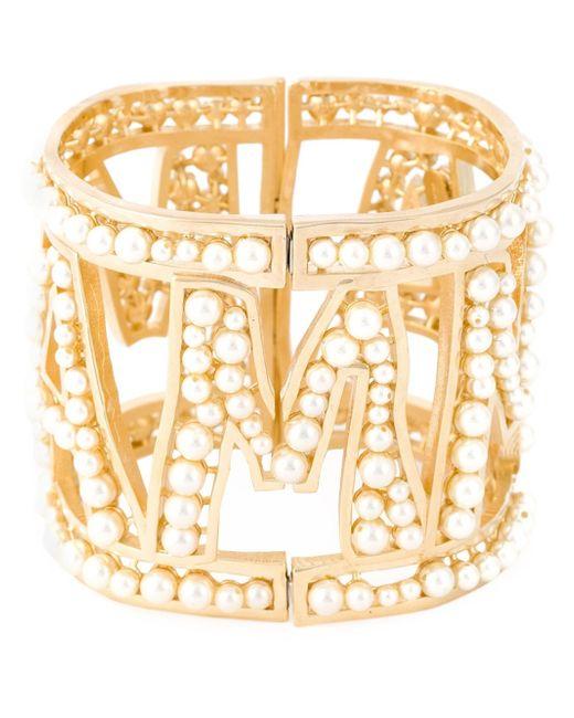 Dolce & Gabbana   Metallic Mamma Pearl Cuff   Lyst