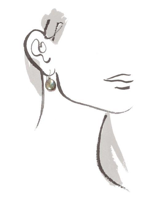 Melissa Joy Manning | Metallic Bezel Set Labradorite Earrings | Lyst