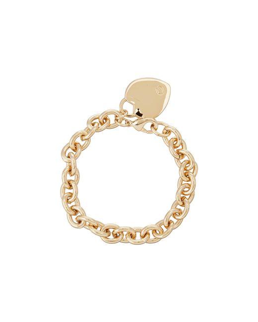 Guess   Metallic Heart Charm Bracelet   Lyst