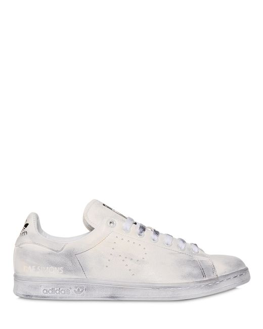 Adidas By Raf Simons | White Stan Smith Aged-Sole Low-Top Sneakers | Lyst