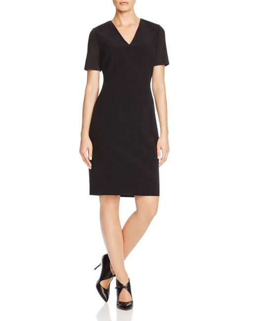 T Tahari | Black Mikayla Contrast Sleeve Dress | Lyst