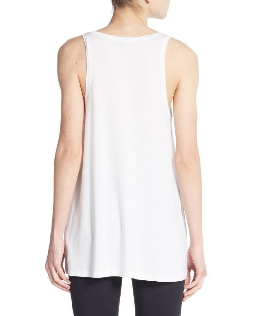 Vince Draped Tank Top In White - Save 60%