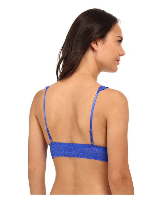 Hanky Panky | Blue Signature Lace Crossover Bralette 113 | Lyst