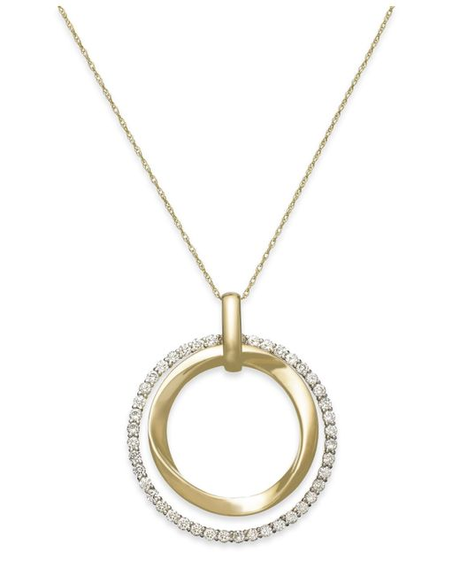 Le Vian | Metallic Diamond Circle Pendant Necklace In 14k Gold (7/8 Ct. T.w.) | Lyst