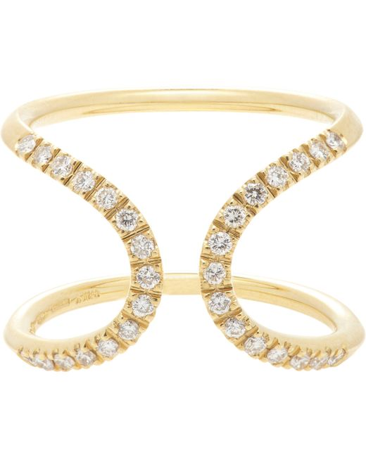 Roberto Marroni | Metallic Diamond & Gold Inverted Arch Ring | Lyst