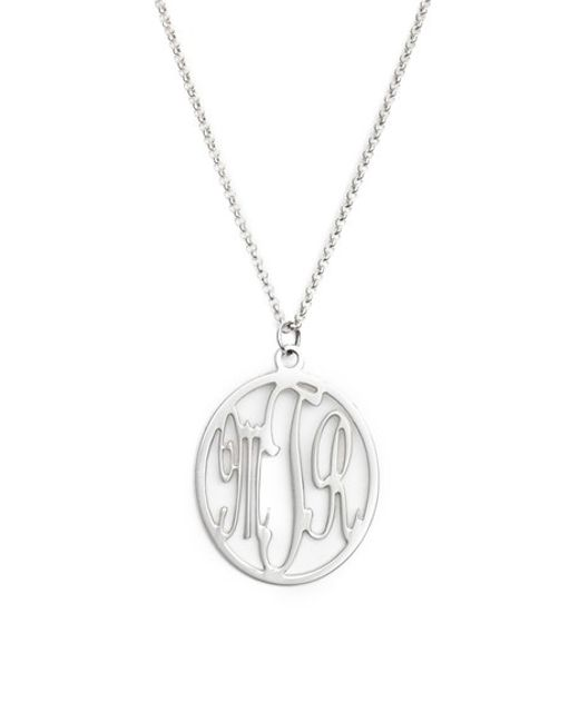 Argento Vivo | Metallic Personalized Three Initial Pendant Necklace | Lyst