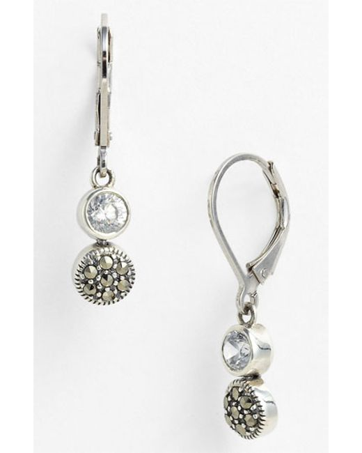 Judith Jack | Metallic Marcasite Earrings | Lyst