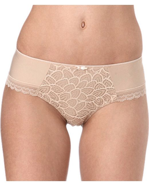 Chantelle | Natural Merci Jersey And Stretch-lace Hipster Briefs | Lyst