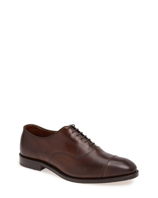 Allen Edmonds | Brown 'park Avenue' Oxford for Men | Lyst