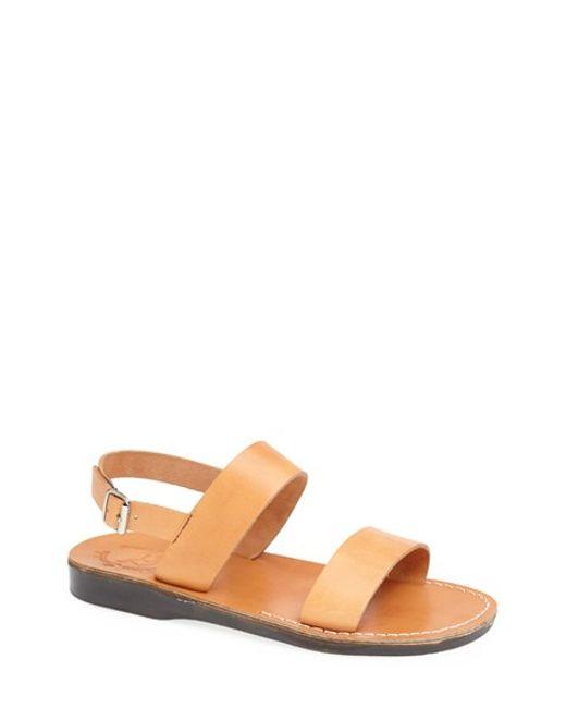 Jerusalem Sandals | Brown 'golan' Leather Sandal for Men | Lyst