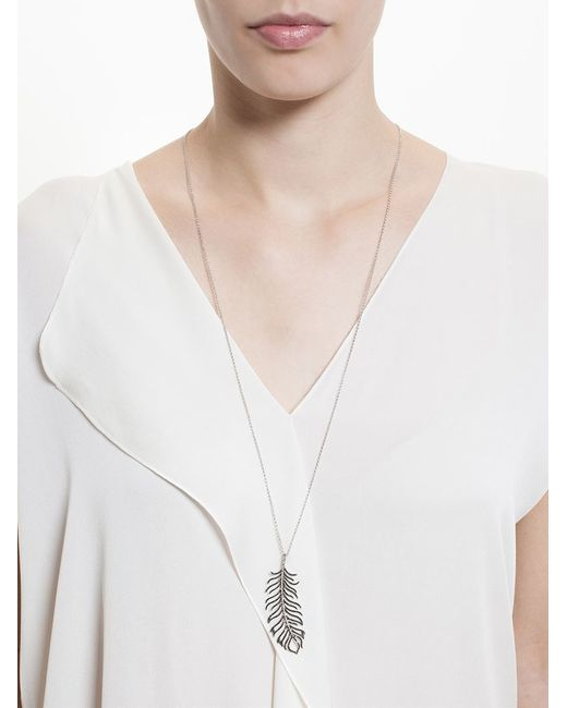 Rosa De La Cruz | Black Diamond Feather Necklace | Lyst