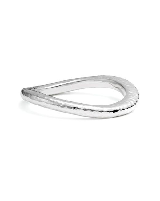 Simon Sebbag | Metallic Hammered Skinny Wavy Bangle | Lyst