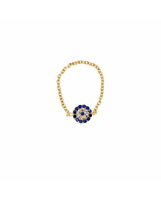 Talia Naomi   Metallic See No Evil Chain Ring Gold   Lyst