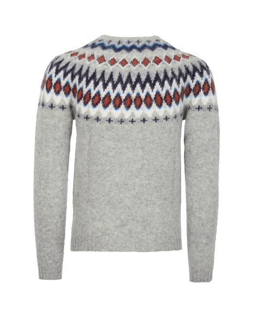 Norse projects Birnir Fairisle Jumper in Gray for Men - Save 19 ...
