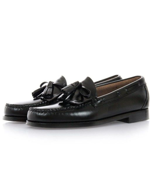 G.H. Bass & Co. | Layton Black Moc Kiltie Leather Loafer Shoes Ba11020 | Lyst
