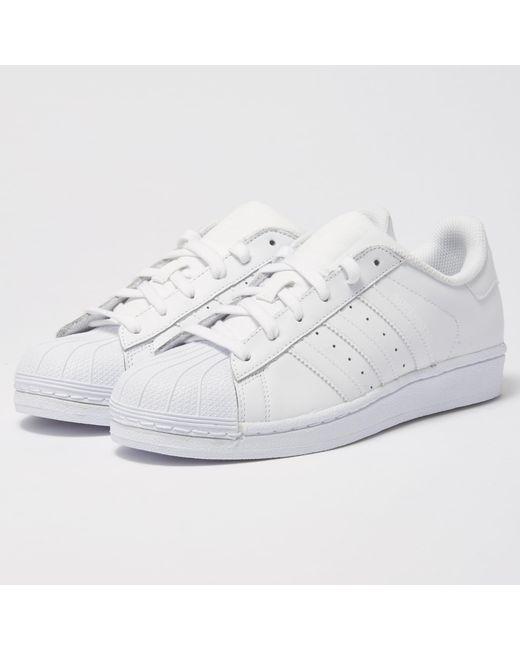 Lyst Adidas Originals Superstar Foundation Blanc Chaussures