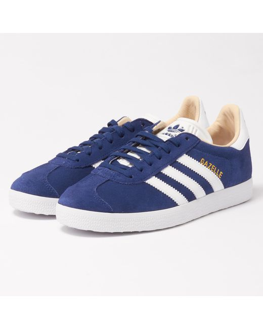 best website 724d8 dc26c Adidas Originals - Blue Wmns Gazelle Sneakers for Men - Lyst ...