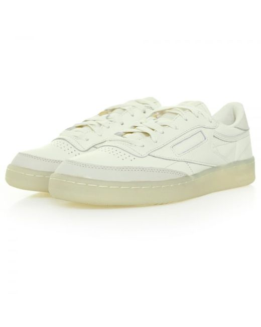 reebok club c 85 butter soft leather shoe ar1423 in brown