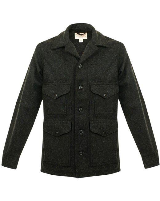 Filson - Black Mackinaw Cruiser Jacket for Men - Lyst