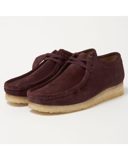 Clarks | Multicolor Wallabee Burgundy Suede Shoes for Men | Lyst