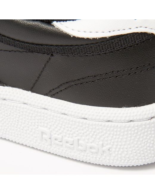 8187597d912 Lyst - Reebok Club C85 El Black Sneakers Bd5685 in Black for Men ...