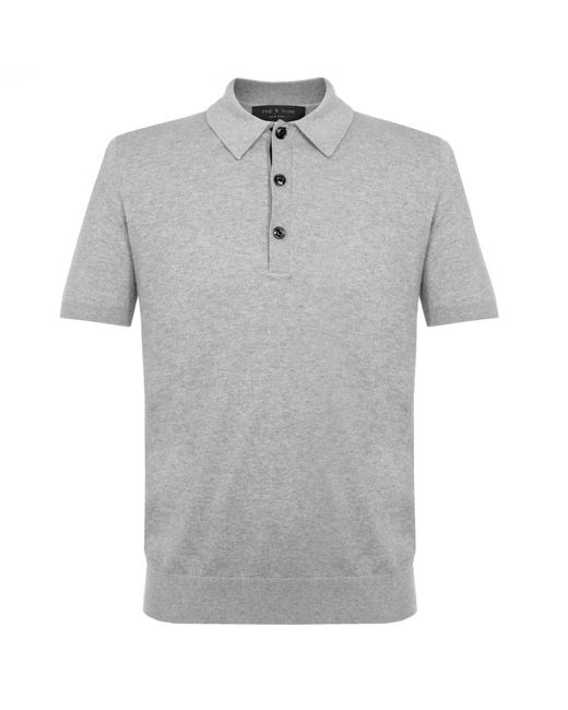 Rag & Bone - Gray Mason Grey Polo Shirt M2726238x for Men - Lyst